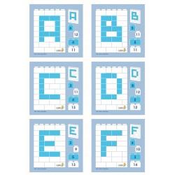 Instrukcje 1:1 Little Architekt Litery i Cyfry 17 szt.