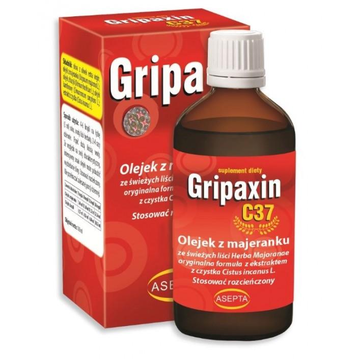 ASEPTA Gripaxin C37 10ml - Olejek z majeranku i bazylii + ekstr. z czystka