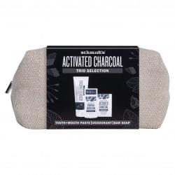 Zestaw Schmidts Aktywny węgiel z kosmetyczką dezodorant 58 ml, pasta do zębów 100 ml, mydło 142 g