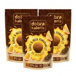 DOBRA KALORIA Na okrągło - Kakao & Nuta pomarańczy KUBARA x 3 szt.