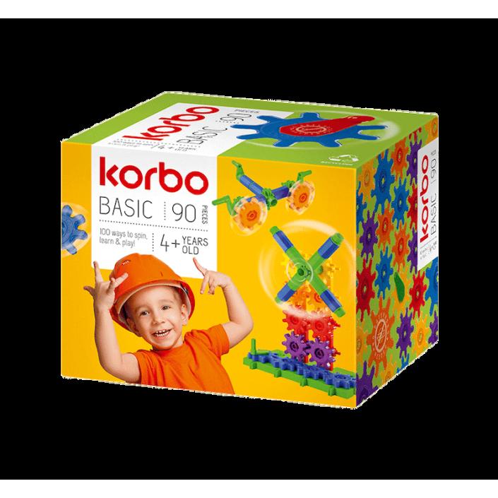 Klocki konstrukcyjne Korbo Basic 90 el.