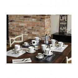 zestaw filiżanek do kawy Tognana Graphic na stole