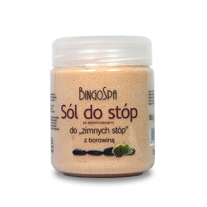 BINGOSPA Sól do stóp rozgrzewająca z borowiną 550g
