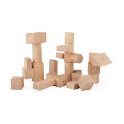 Klocki drewniane magnetyczne Kooglo Basic Natural 50 el.