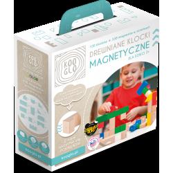 Klocki drewniane magnetyczne Kooglo Mega Color 100 el.