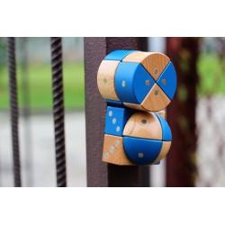 Klocki drewniane magnetyczne - IGEO 24 el.