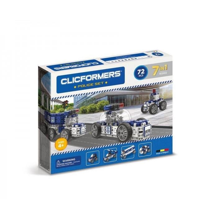 CLICFORMERS Policja 7w1 72 el. - Klocki konstrukcyjne