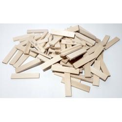 Klocki drewniane deseczki Koobi Mix 8+12 cm 400 el.