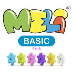 Klocki Meli Pink Basic Travel 1000 el.